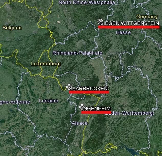 lokacije haplotipova bliske Cocicevim