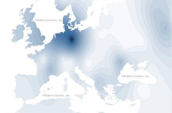 присутност хаплогрупе I2-M223 у Европи