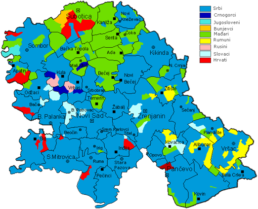 ruski krstur mapa Досељавање народа у Војводину   Порекло ruski krstur mapa