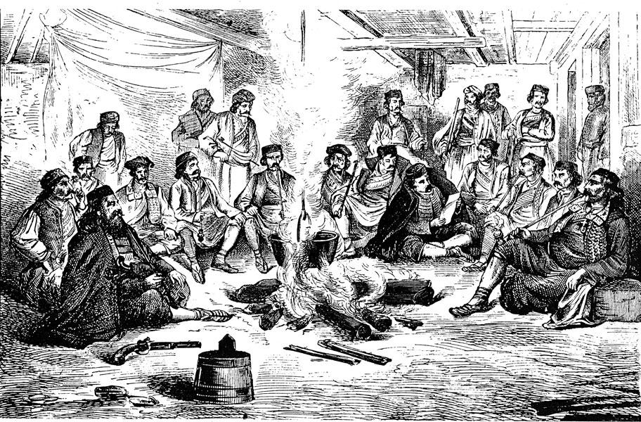 Слика 3: Срби Херцеговци око огњишта