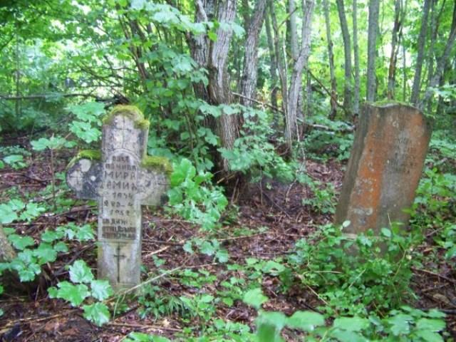 Крстови у гробљу на Комљеновој Главици, село Калати, снимљено 13.ј ула 2014. године