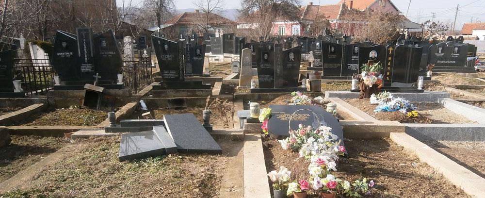 Оскрнављено гробље у селу Племетина