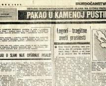 Фељтон о страдању Срба у логорима на Пагу 1941.