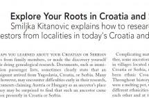 Istražujte vaše korene u Hrvatskoj i Srbiji