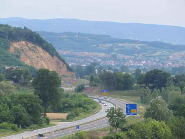 Поглед на Корман из села Ботуња
